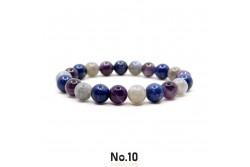 Ametis Lapis Lazuli ve Labradorit Doğal Taşlı Bileklik
