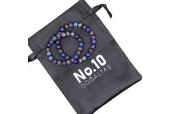 Ametist Lapis Lazuli Spektrolit Doğal Taşlı Çift Bilekliği