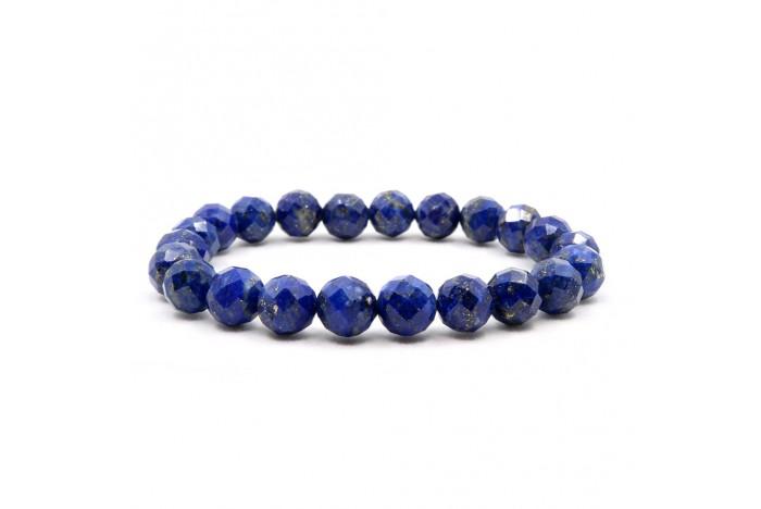Faset Kesimli Lapis Lazuli Doğal Taşlı Bileklik