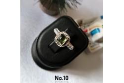 925 Ayar Gümüş Yeşil Turmalin Taşlı Yüzük