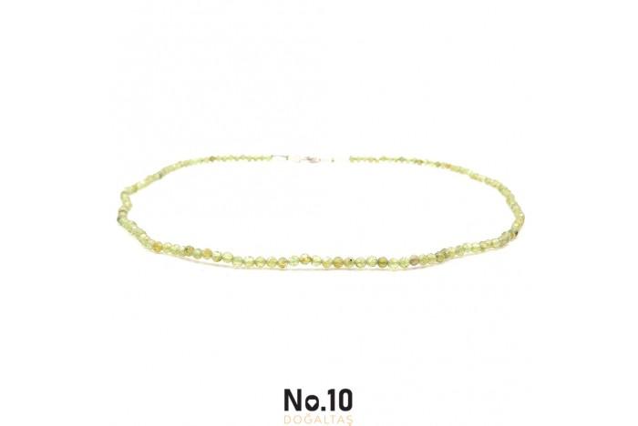 Zebercet (Peridot) Doğal Taşlı Kolye