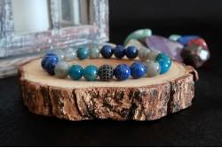 Apatit Lapis Lazuli ve Labradorit Doğal Taşlı Bileklik