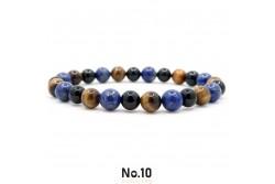 Lapis Lazuli Kaplangözü ve Akik Doğal Taşlı Bileklik